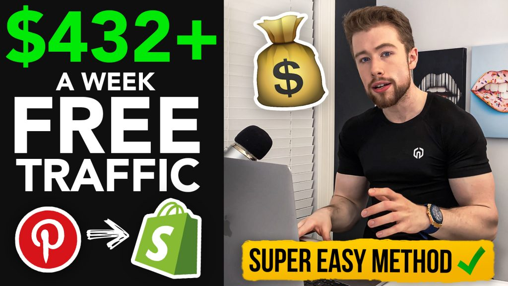 How I Made $432/Week On Shopify With FREE Pinterest Traffic
